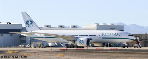 Crystal Cruises Luxury Air -Boeing 777-200 Decal