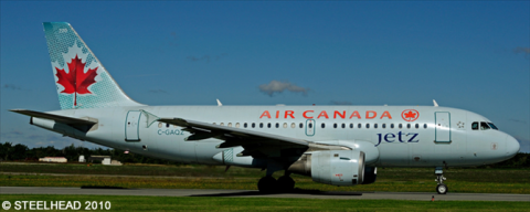 Air Canada Jetz Airbus A319 Decal