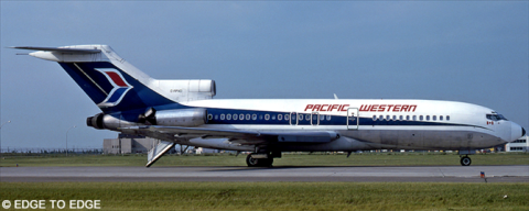 Pacific Western Airlines (PWA) -Boeing 727-100 Decal