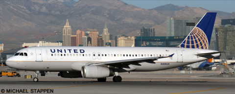 United Airlines Airbus A320 Decal