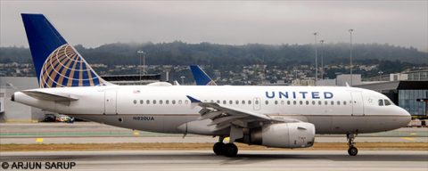 United Airlines Airbus A319 Decal