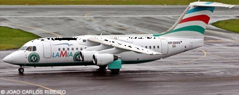 Lamia Bolivia -BAe Avro RJ-85 Decal