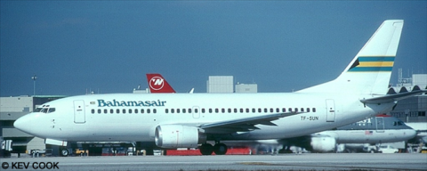 Bahamasair -Boeing 737-300 Decal