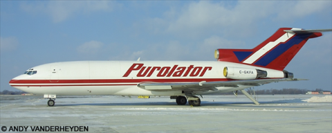 Purolator -Boeing 727-100 Decal