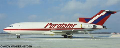 Purolator -Boeing 727-100 Decal