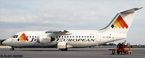 Jersey European -BAe Avro RJ-85 Decal
