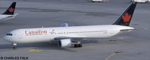 Canadian Airlines, Air Canada -Boeing 767-300 Decal