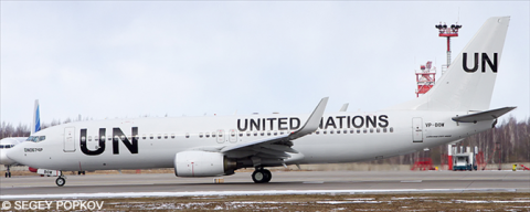 United Nations UN -Boeing 737-800 Decal