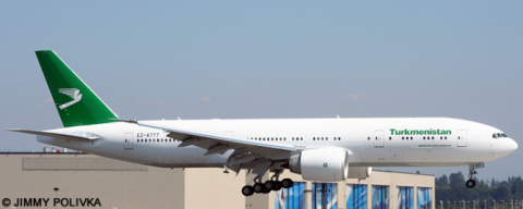 Turkmenistan -Boeing 777-200 Decal