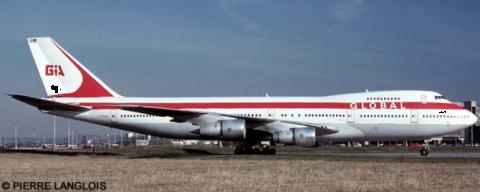 Global International Airways -Boeing 747-100 Decal