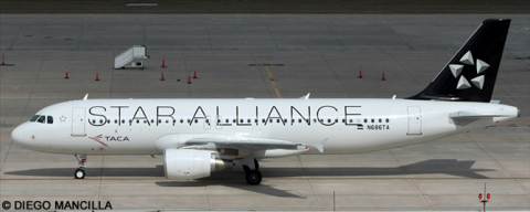 TACA, Star Alliance Various Airlines Airbus A320 Decal
