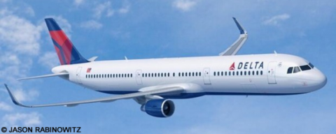 Delta Airlines Airbus A321 Decal