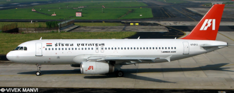 Indian Airlines Airbus A320 Decal