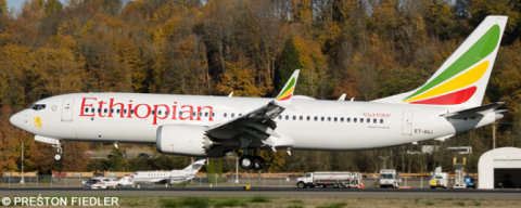 Ethiopian Airlines -Boeing 737-8 MAX Decal