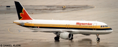 Skyservice, Monarch Airlines Airbus A320 Decal