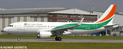 Air Cote d'Ivoire Airbus A320 Decal