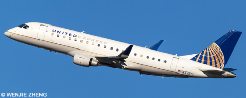 United Airlines -Embraer E175 Decal