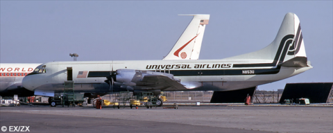 Universal Airlines Lockheed L-188 Electra Decal