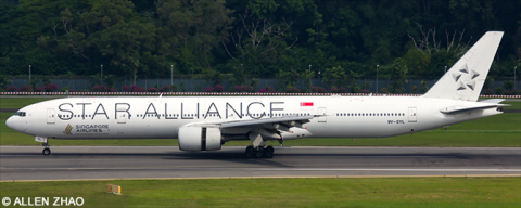 Singapore Airlines, Star Alliance Various Airlines Boeing 777-300 Decal