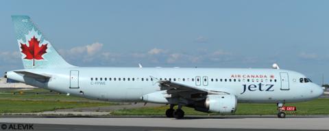 Air Canada Jetz Airbus A320 Decal