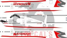 Nationair -Boeing 757-200 Decal