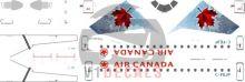 Air Canada -Embraer E175 Decal