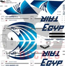 Egyptair Boeing 777-300 Decal