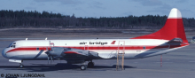 Air Bridge, NWT Air (Northwest Territorial) Lockheed L-188 Electra Decal