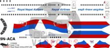 Royal Nepal Airlines, Nepal Airlines -Boeing 757-200 Decal