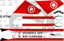 Air Canada -Lockheed L-1011-100 Tristar Decal