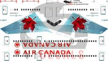 Air Canada -Boeing 787-8 Decal