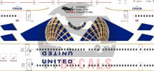 United Airlines -Boeing 737-900 Decal