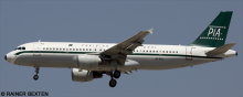 Pakistan International Airlines (PIA) Airbus A320 Decal