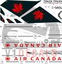 Air Canada -Boeing 747-400 Decal