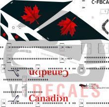 Canadian Airlines, Air Canada -Boeing 747-400 Decal