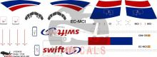Swift Air Cargo -Boeing 737-400 Decal