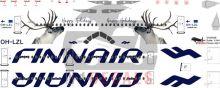 Finnair Airbus A321 Decal