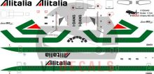 Alitalia McDonnell Douglas MD-80 Decal