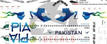PIA Pakistan International Airlines Airbus A320 Decal