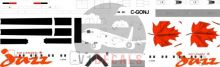 Air Canada Jazz -DeHavilland Dash 8-100 Decal