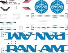 Pan Am Boeing 747-100 Decal